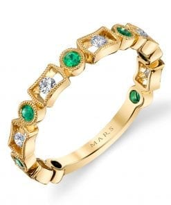 Diamond & Emerald Ring - Stackable  Style #: MARS-26211YGEM
