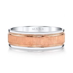 Mixed Metal Men's Wedding BandStyle #: MARS G100