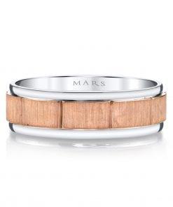 Mixed Metal Men's Wedding BandStyle #: MARS G101