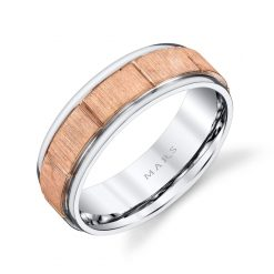 Mixed Metal Men's Wedding BandStyle #: MARS G101