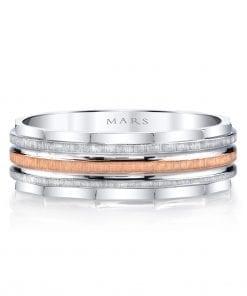 Mixed Metal Men's Wedding BandStyle #: MARS G102