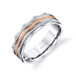 Mixed Metal Men's Wedding BandStyle #: MARS G102