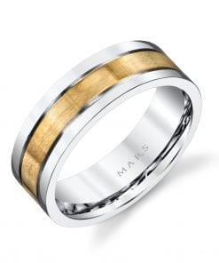 Mixed Metal Men's Wedding BandStyle #: MARS G103