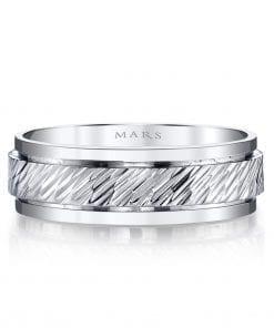 Modern Men's Wedding BandStyle #: MARS G104