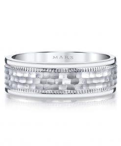 Modern Men's Wedding BandStyle #: MARS G105