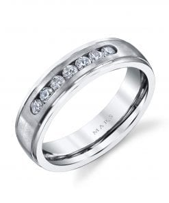 Embellished Diamond Men's Wedding BandStyle #: MARS G114