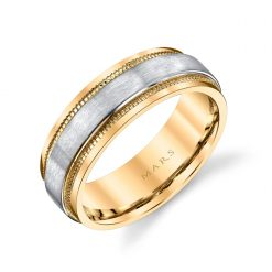 Mixed Metal Men's Wedding BandStyle #: MARS G133