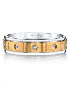 Mixed Metal Men's Wedding BandStyle #: MARS G134