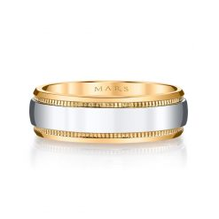 Mixed Metal Men's Wedding BandStyle #: MARS G135