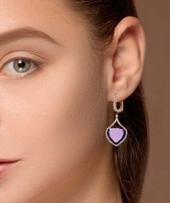 Unique Amethyst EarringsStyle #: ANC-4276