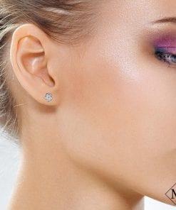 Floral Diamond EarringsStyle #: MD-EAR10002