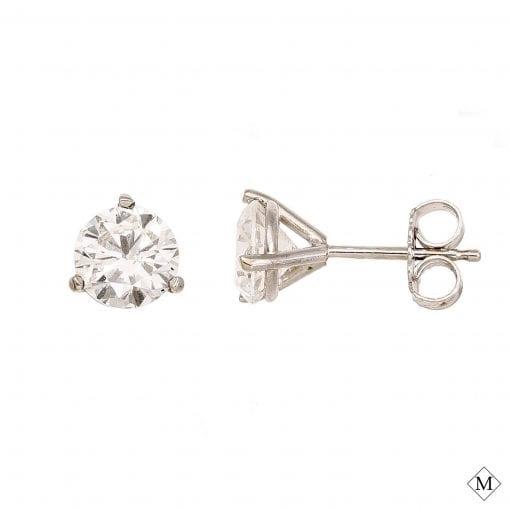 MHSTUD00001-1, A Classic Diamond Stud from Mark's Diamond