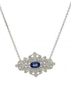Sapphire  NecklacesStyle #: PD-LQ3107N