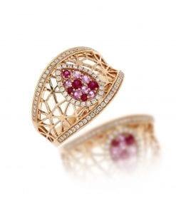 Modern Diamond Fashion RingStyle #: MH-RING-PinkSapp