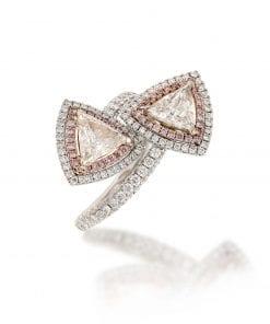 Modern Pink Diamond Fashion RingStyle #: MID-JW-RING-TRI-001