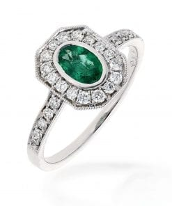 Glamorous  Emerald Ring<br>Style #: PD-10121186