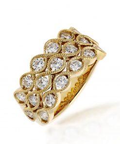 Modern Round Diamond RingStyle #: PD-LQ17223L