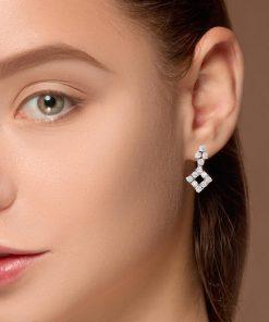 Drop Diamond EarringsStyle #: JW-EAR-RB-006
