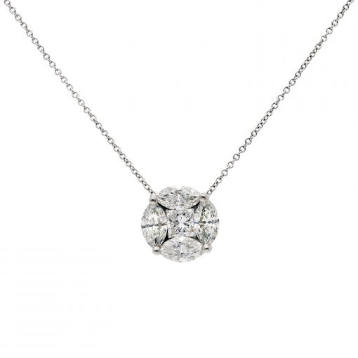 Marquise Diamond NecklaceStyle #: MH-PEN-819-01