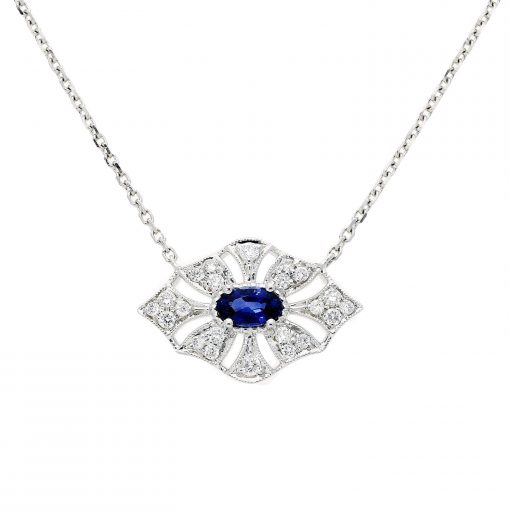 Sapphire NecklaceStyle #: PD-JLQ129N