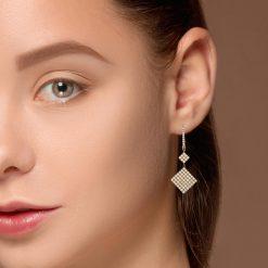 Dangle Diamond EarringsStyle #: PD-LQ10148E